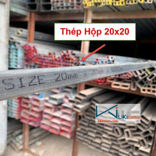 Giá thép hộp 20x20