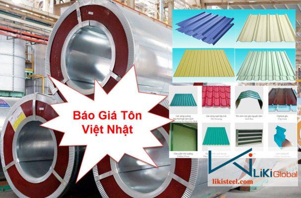 Báo giá tôn Việt Nhật mới nhất
